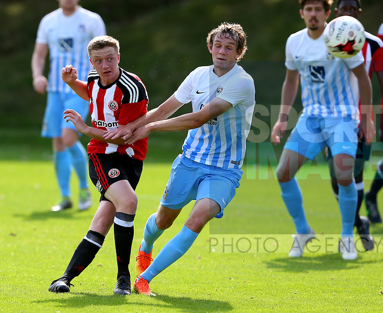 Jordan Hallam of Sheffield Utd during the Professional Development League Two match at Shirebrook Training Complex, Sheffield. Picture date: September 13th, 2016. Pic Simon Bellis/Sportimage