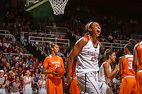 Stanford, CA - Saturday December 16, 2015: Erica McCall during the Stanford vs Tennessee basketball game Wednesday night at Maples.<br /> <br /> The Cardinal defeated the Volunteers 69-55.<br /> .