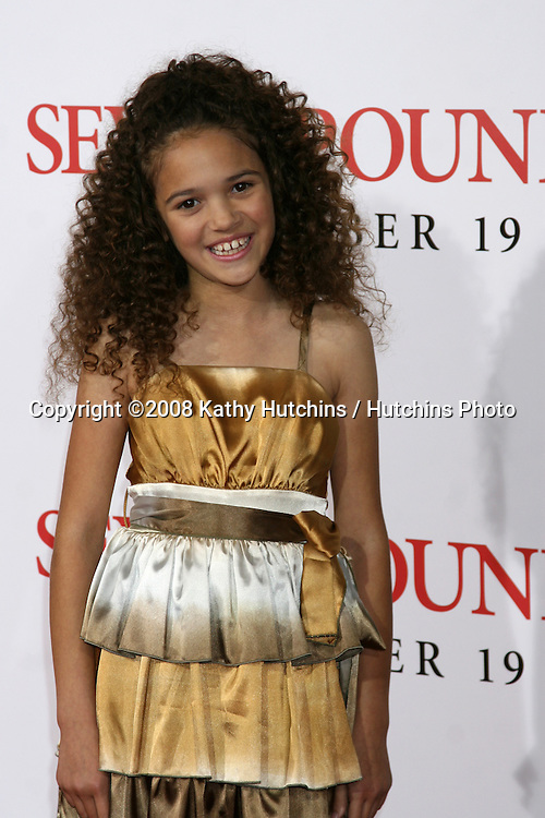 "Madison Pettis  arriving at the Premiere of ""Seven Pounds"" at the Mann's Village Theater in Westwood, CA on December 15, 2008.©2008 Kathy Hutchins / Hutchins Photo..                ."