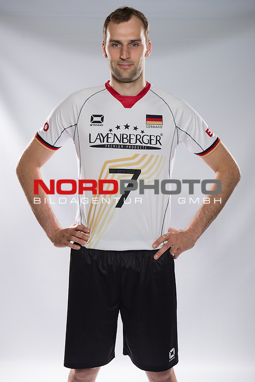 24.05.2015, Sportzentrum Westenfeld, Bochum<br /> Volleyball, Fotoshooting Nationalmannschaft MŠnner / Maenner<br /> <br /> Dirk Westphal (#7 GER)<br /> <br />   Foto &copy; nordphoto / Kurth