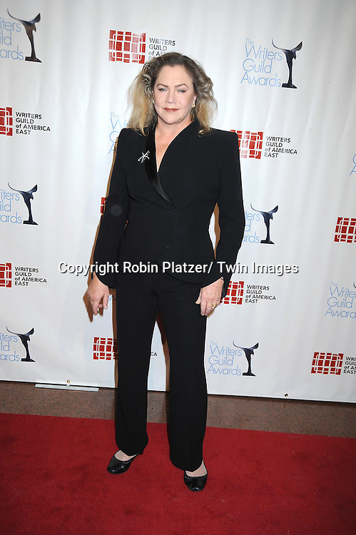 actress Kathleen Turner attending The 63rd Annual Writers Guild Awards on February 5, 2011 at the AXA Equitable Center in New York City.