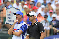 Paul Casey (ENG) and caddy John Mclaren on the 1st tee to start his match during Sunday's Final Round of the 117th U.S. Open Championship 2017 held at Erin Hills, Erin, Wisconsin, USA. 18th June 2017.<br /> Picture: Eoin Clarke | Golffile<br /> <br /> <br /> All photos usage must carry mandatory copyright credit (&copy; Golffile | Eoin Clarke)