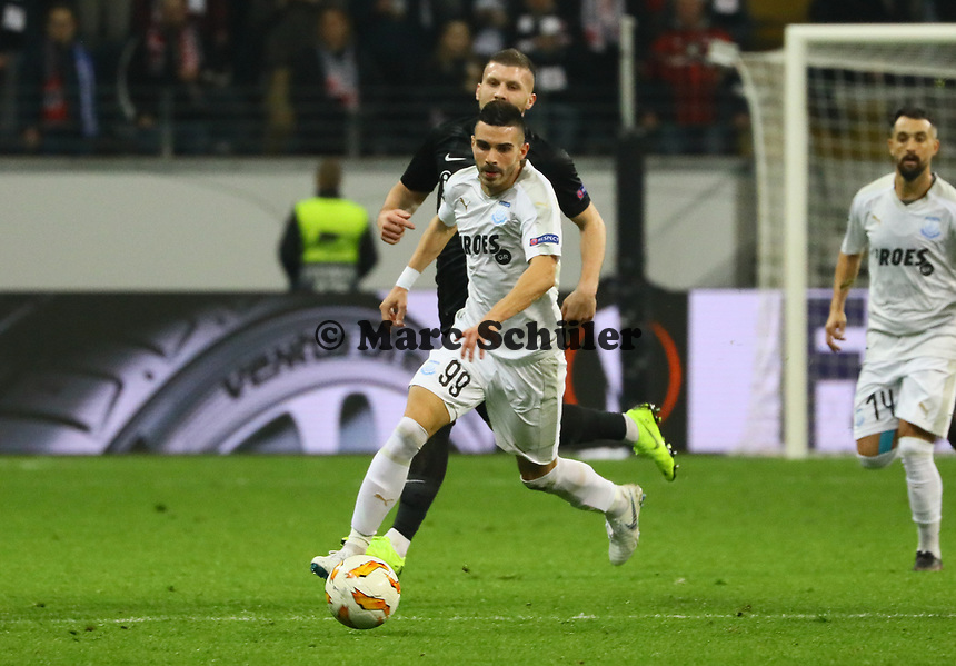 Anton Maglica (Apollon Limassol FC) - 25.10.2018: Eintracht Frankfurt vs. Apollon Limassol FC, Commerzbank Arena, Europa League 3. Spieltag, DISCLAIMER: DFL regulations prohibit any use of photographs as image sequences and/or quasi-video.