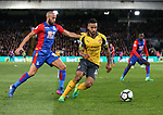 Crystal Palace's Andros Townsend tussles with Arsenal's Theo Walcott during the Premier League match at Selhurst Park Stadium, London. Picture date: April 10th, 2017. Pic credit should read: David Klein/Sportimage
