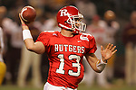 Rutgers Scarlet Knights quarterback Ryan Hart unleashes a pass downfield during the Insight Bowl against theArizona State Sun Devils at Chase Field in Phoenic, AZ on December 27, 2005.  The Sun Devils won 45-40.