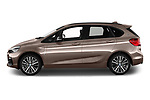 Car driver side profile view of a 2018 BMW 2 Series 225xe iperformance 5 Door Mini Van