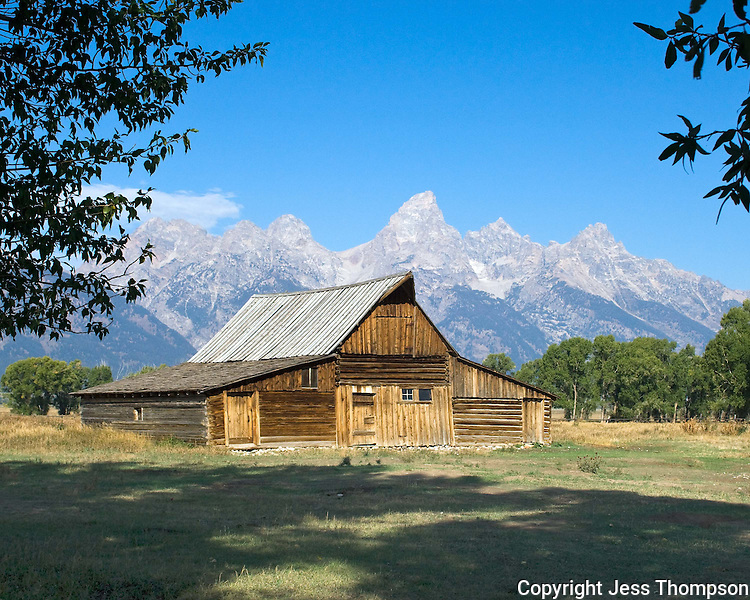 Old barn in Tetons National Park, Wyoming