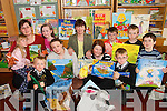 BACK TO SCHOOL: Parents and children from Brosna National School who took part in a Story Sacks project in the school on Friday last..Front L/r. Dan Connolly, Siobhan Connolly, Ann Relihan, Gavin Relihan and Maurice Roche..Back L/r. Sarah Mullins, Sonja Mullins, Eleanor Roche, Joan Roche, Eoin Relihan and Michael Mullins. .