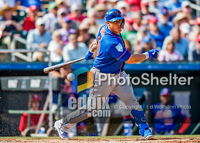 28 February 2019: New York Mets catcher Wilson Ramos at bat during a Spring Training game against the St. Louis Cardinals at Roger Dean Stadium in Jupiter, Florida. The Mets defeated the Cardinals 3-2 in Grapefruit League play. Mandatory Credit: Ed Wolfstein Photo *** RAW (NEF) Image File Available ***