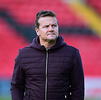 Forest Green Rovers manager Mark Cooper during the pre-match warm-up<br /> <br /> Photographer Andrew Vaughan/CameraSport<br /> <br /> The EFL Sky Bet League Two - Lincoln City v Forest Green Rovers - Saturday 3rd November 2018 - Sincil Bank - Lincoln<br /> <br /> World Copyright © 2018 CameraSport. All rights reserved. 43 Linden Ave. Countesthorpe. Leicester. England. LE8 5PG - Tel: +44 (0) 116 277 4147 - admin@camerasport.com - www.camerasport.com