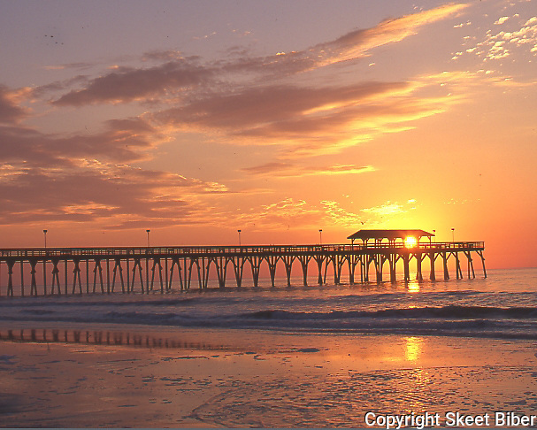 Beach and Pier at sunrise