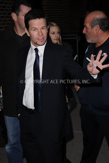 WWW.ACEPIXS.COM . . . . . .January 9, 2012...New York City....Mark Wahlberg arrives to tape the Late Show with David Letterman on January 9, 2012 in New York City.....Please byline: KRISTIN CALLAHAN - ACEPIXS.COM.. . . . . . ..Ace Pictures, Inc: ..tel: (212) 243 8787 or (646) 769 0430..e-mail: info@acepixs.com..web: http://www.acepixs.com .