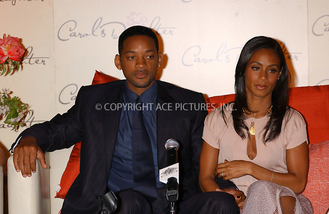 WWW.ACEPIXS.COM . . . . . ....NEW YORK, MAY 17, 2005....Will Smith and Jada Pinkett-Smith at a press conference announcing Jada as the new face of 'Carol's Daughter' in it's new advertising campaign.....Please byline: KRISTIN CALLAHAN - ACE PICTURES.. . . . . . ..Ace Pictures, Inc:  ..Craig Ashby (212) 243-8787..e-mail: picturedesk@acepixs.com..web: http://www.acepixs.com