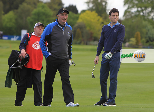 Aidan Brown (AM) and Michael Smurfitt Jnr. (AM) on the 15th during Wednesday's Pro-Am round of the Dubai Duty Free Irish Open presented  by the Rory Foundation at The K Club, Straffan, Co. Kildare<br /> Picture: Golffile | Thos Caffrey<br /> <br /> All photo usage must carry mandatory copyright credit <br /> (&copy; Golffile | Thos Caffrey)