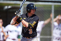 Iowa Hawkeyes shortstop Nick Roscetti (3) at bat during a game against the Dartmouth Big Green on February 27, 2016 at South Charlotte Regional Park in Punta Gorda, Florida.  Iowa defeated Dartmouth 4-1.  (Mike Janes/Four Seam Images)