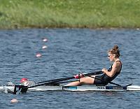 Rotterdam. Netherlands.   Gold Medalist NZL LW1X. Zoe MCBRIDE World Championships, Finals.  2016  {WRCH2016}  at the Willem-Alexander Baan.   Saturday  27/08/2016 <br /> <br /> [Mandatory Credit; Peter SPURRIER/Intersport Images]