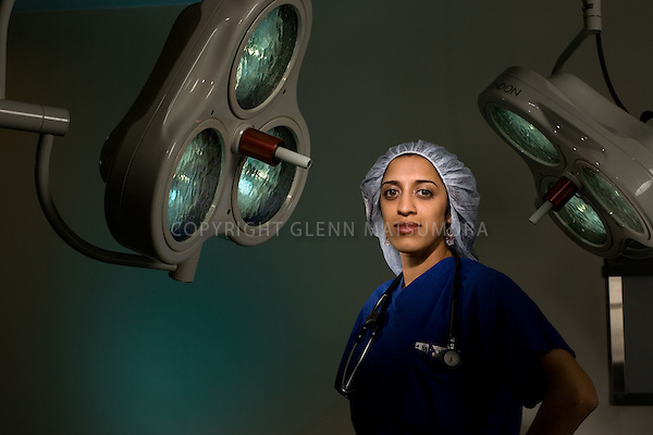 Prasanna Janaki Ananth, Stanford Medical student in operating room at Stanford Hospital.