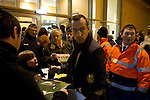 Blackpool 2 Liverpool 1, 12/01/2011. Bloomfield Road, Premier League. Midfielder Charlie Adam signing autographs for fans as he arrives at Blackpool FC's Bloomfield Road stadium before the club played host to Liverpool FC in a Premier League match. The home side won by two goals to one. It was the first time the clubs had met in a league match since Blackpool were last in the top division of English football in 1970-71. Photo by Colin McPherson.
