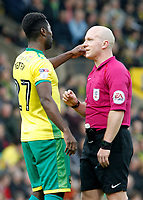Blackburn Rovers' Willem Tomlinson argues with Referee Simon Hooper<br /> <br /> Photographer David Shipman/CameraSport<br /> <br /> The EFL Sky Bet Championship - Norwich City v Blackburn Rovers - Saturday 11th March 2017 - Carrow Road - Norwich<br /> <br /> World Copyright &copy; 2017 CameraSport. All rights reserved. 43 Linden Ave. Countesthorpe. Leicester. England. LE8 5PG - Tel: +44 (0) 116 277 4147 - admin@camerasport.com - www.camerasport.com