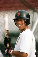 Sammy Serrano of the Bakersfield Blaze during a California League baseball game circa 1999. (Larry Goren/Four Seam Images)