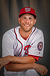 22 February 2019: Washington Nationals pitcher Kyle McGowin poses for his Photo Day portrait at the Ballpark of the Palm Beaches in West Palm Beach, Florida. Mandatory Credit: Ed Wolfstein Photo *** RAW (NEF) Image File Available ***