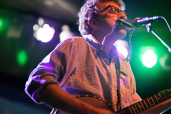 April 8, 2011. Carrboro, NC.. Phil Cook of Megafaun..Megafaun opened for the Mountain Goats at the Cat's Cradle