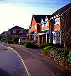 AWY7A0 New private suburban housing development Ipswich Suffolk England