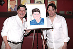 Michael McGrath & Matthew Broderick .attending the unveiling of the Sardi's caricature for the Tony Award-winning star of 'Nice Work If You Can Get It', Michael McGrath on July 12, 2012 in New York City.