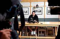 Jaguares most capped rugby player Guido Petti speaks to the media during a press conference at the Crowne Plaza in Christchurch on Thursday evening.  Photo: Martin Hunter / lintottphoto.co.nz