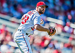 30 July 2017: Washington Nationals pitcher Matt Grace gets the first out in the 6th inning against the Colorado Rockies at Nationals Park in Washington, DC. The Rockies defeated the Nationals 10-6 in the second game of their 3-game weekend series. Mandatory Credit: Ed Wolfstein Photo *** RAW (NEF) Image File Available ***