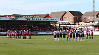 pre match minutes silence<br /> during the Sky Bet League 2 match between Accrington Stanley and Grimsby Town at the Fraser Eagle Stadium, Accrington, England on 25 March 2017. Photo by Tony  KIPAX / PRiME Media Images.