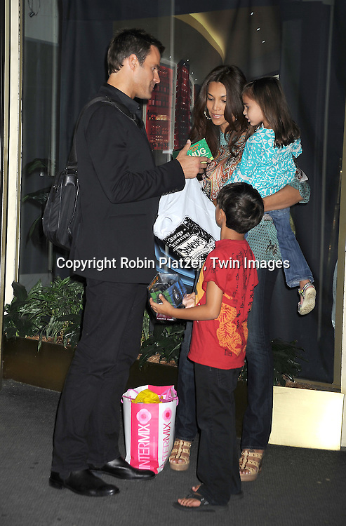Cameron Mathison and family, wife Vanessa, son Lucas and daughter Leila