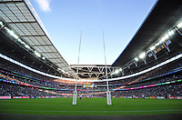 A general view of the action at Wembley Stadium. Rugby World Cup Pool D match between Ireland and Romania on September 27, 2015 at Wembley Stadium in London, England. Photo by: Patrick Khachfe / Onside Images