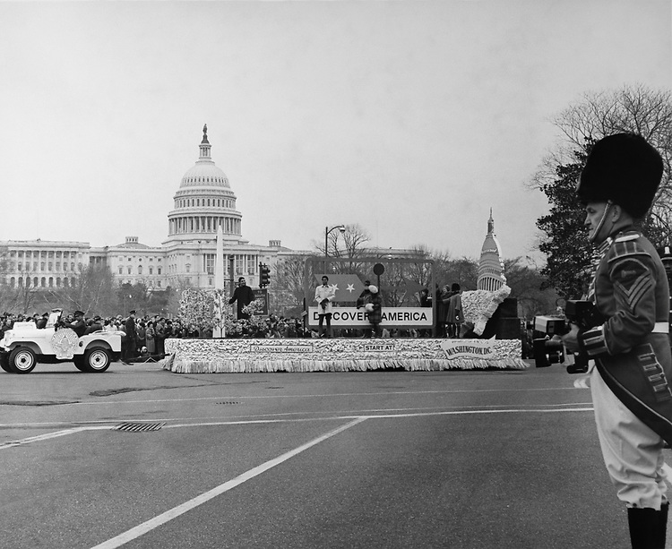 Parade at Inaugural Stands on the Capitol Hill. (Photo by CQ Roll Call via Getty Images)