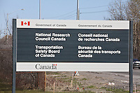 A National Research Council Canada (Conseil national de recherche Canada) building is pictured at the Transportation Safety Board of Canada offices in Ottawa Sunday April 29, 2012. The Transportation Safety Board of Canada, officially the Canadian Transportation Accident Investigation and Safety Board is the agency of the Government of Canada responsible for advancing transportation safety in Canada.