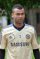 Prior to playing Manchester City in a friendly game at Busch Stadium, home of the St Louis Cardinals baseball team, Chelsea held a closed practice at Robert R Hermann Stadium on the campus of Saint Louis University..Ashley Cole.