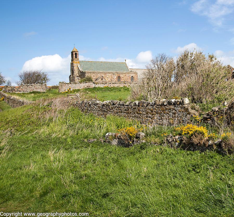 Parish Church of Saint Mary the Virgin, Holy Island, Lindisfarne, Northumberland, England