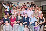 9337-9341.---------.90 years young.--------------.Dan Keane(seated 4th from the Rt)from Obrennan,Ballymac,Tralee,celebrated his 90th birthday last Saturday night in Gally's bar/restaurant,Castlemaine Rd,Tralee with many family and friends.