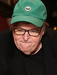 Michael Moore during the Michael Moore And Michael Mayer portrait unveilings as they join the Wall of Fame at Sardi's on September 21, 2017 at Sardi's in New York City.