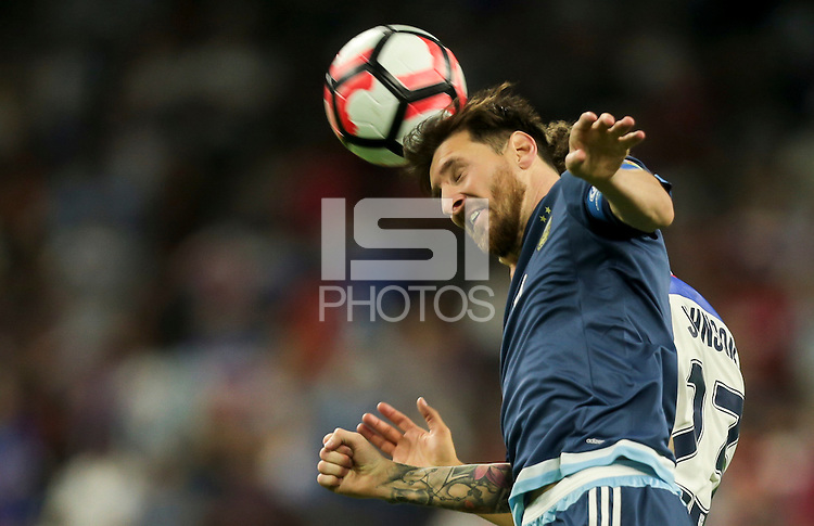 Houston, TX - June 21, 2016: The U.S. Men's National team loose to Argentina 0-4 from a goal by Lionel Messi in Semifinal play at the 2016 Copa America Centenario at NRG Stadium.