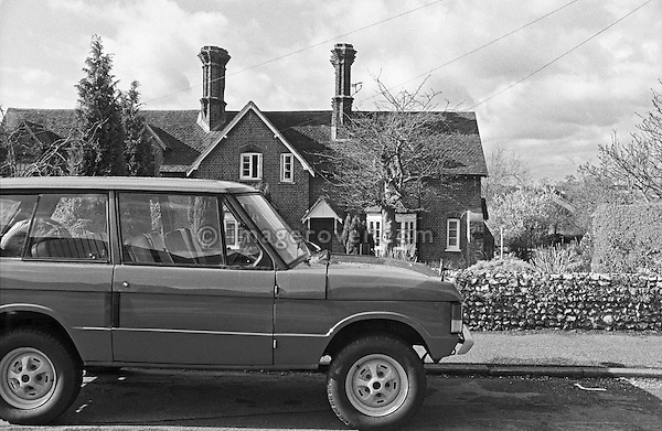 Very early 1970 Range Rover, chassis No. 35500015A, Registration YVB 162H, Engine 3.5 ltr V8 petrol. Belonging to the Dunsfold Collection of Landrovers, Surrey, UK. No releases vailable, but releases may not be necessary for certain uses. Automotive trademarks are the property of the trademark holder, authorization may be needed for some uses. --- Info: YVB 162H (chassis no. 35500015A) is one of the 28 Range Rover pre-production prototypes bulit in 1970 prior to its launch in June 1970. Development of the Range Rovers started in November 1968. Most of the pre-production vehicles carried the name VELAR for running on the road in disguise, there were no Land / Range Rover badges. Very little changed from prototypes to production; smooth dash to grained, aluminium bonnet to steel, wheels went from cream to silver. Most of the prototypes carried a 'YVB' registration and had an H suffix. An additional batch of 20 press fleet vehicles was built carrying registration marks NXC 231H to NXC 250H. Around 38 of these pre-production vehicles still survive. This vehicle, YVB 162H was purchased by Dunsfold in the early 90s after suffering a bad engine fire, and was fully rebuilt keeping as many original parts as possible, but sadly the aluminium bonnet was beyond repair.