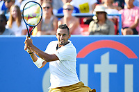 Washington, DC - August 4, 2019: Nick Kyrgios (AUS) in action against Daniil Medvedev (RUS) NOT PICTURED during the Men's finals of the Citi Open at the Rock Creek Tennis Center, in Washington D.C. (Photo by Philip Peters/Media Images International)