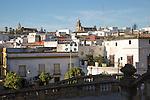 Historic high density buildings in Barrio de Santiago, Jerez de la Frontera, Spain