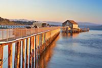 Piers End at the US Coast Gaurd Station. Garibaldi. Oregon