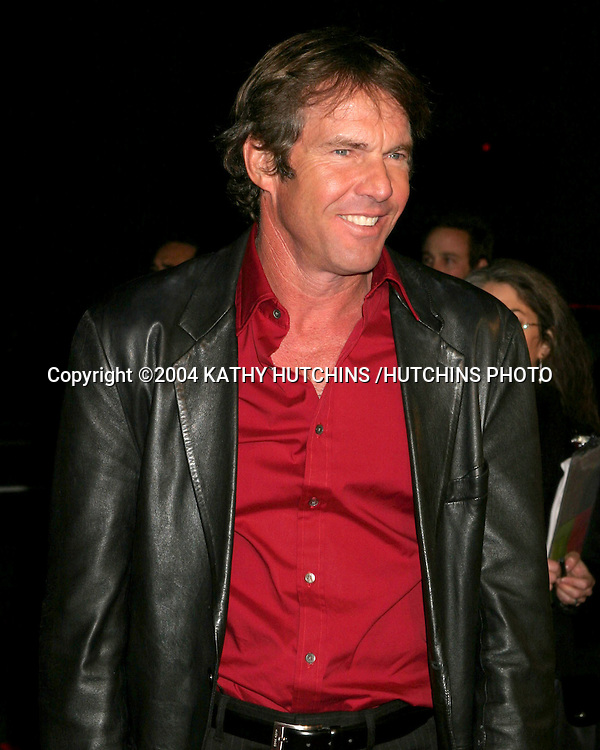 """©2004 KATHY HUTCHINS /HUTCHINS PHOTO.""""IN GOOD COMPANY"""" PREMIERE.GRAUMAN'S CHINESE THEATER .LOS ANGELES, CA.DECEMBER 6, 2004..DENNIS QUAID"""