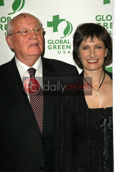 Mikhail Gorbachev and Gale Anne Hurd