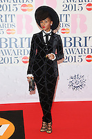 Janelle Monae arriving at The Brit Awards 2015 (Brits) held at the O2 - Arrivals, London. 25/02/2015 Picture by: James Smith / Featureflash
