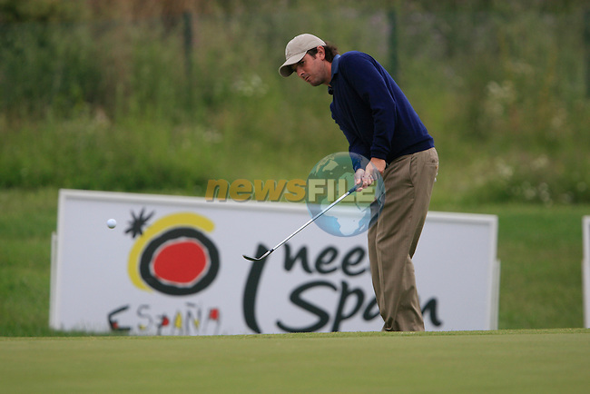 Thomas Aiken (RSA) in action on the 13th green during Day 3 of the Open de Espana at Real Club De Golf El Prat, Terrasa, Barcelona, 7th May 2011. (Photo Eoin Clarke/Golffile 2011)
