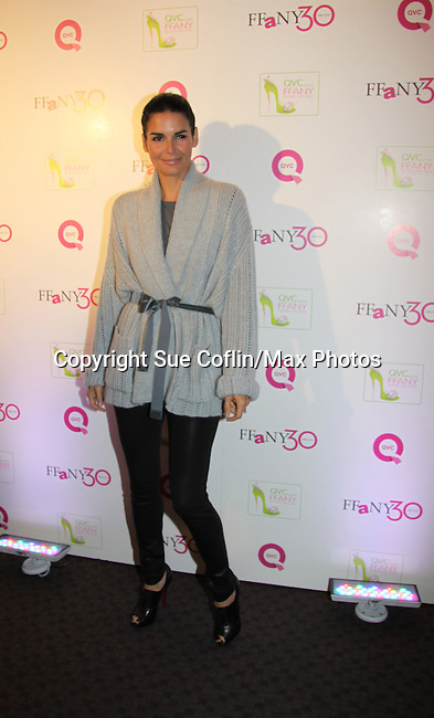 """Angie Harmon at QVC presents """"FFANY SHOES ON SALE"""" at Frederick P. Rose Hall, Home of Jazz at Lincoln Center on October 13, 2010 in New York City, New York. (Photo By Sue Coflin/Max Photos)"""