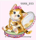 Kayomi, CUTE ANIMALS, LUSTIGE TIERE, ANIMALITOS DIVERTIDOS, paintings+++++KittenInACompact,USKH253,#ac# cats,kittens ,everyday